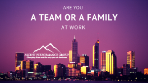 Are You a Team or a Family at Work?